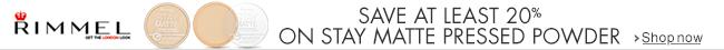 Save 30% On Rimmel Stay Matte Pressed Powder