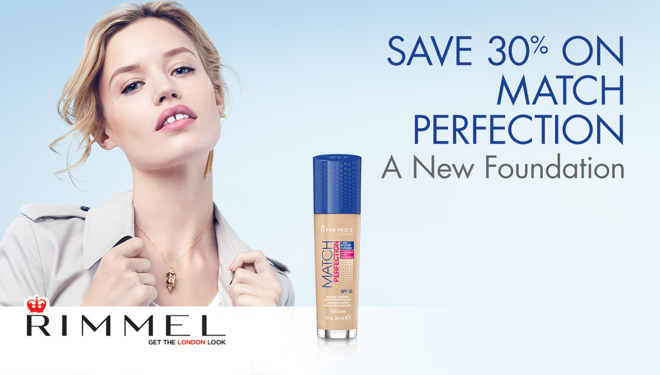 30% Off Match Perfect Foundation