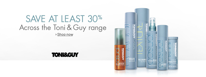Save 30% Across the TONI&GUY range