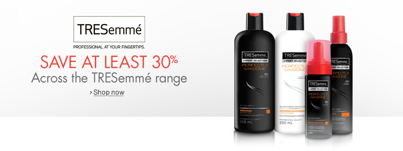 Save 30% Across the TRESemmé Range