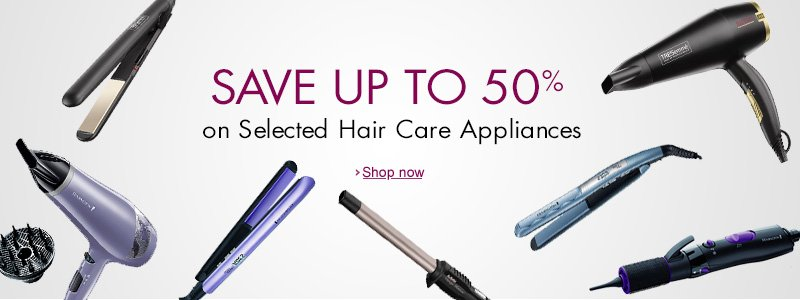 up to 50% off hair care appliances