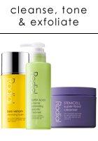 Cleanse, Tone, Exfoliate