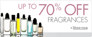 Up to 70% off fragrances