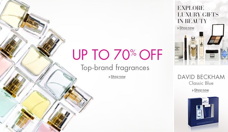 Up to 70% Off Fragrance