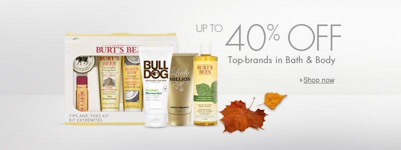 40% off bath and body