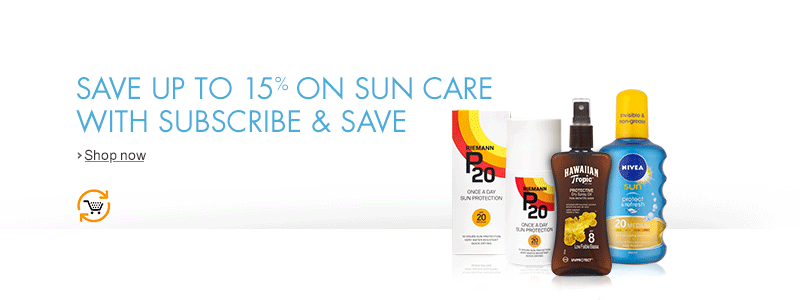 Subscribe and Save up to 15% on Sun Care