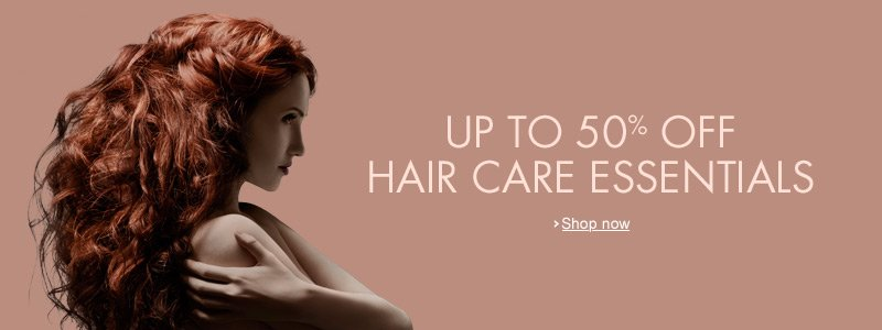 up to 50% off hair care