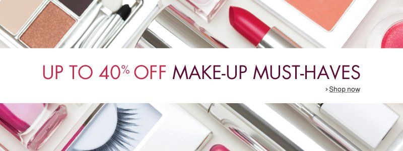 Up to 40% off make-up