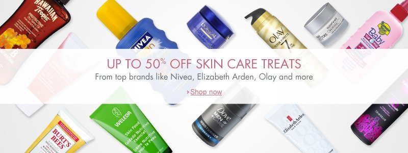 Up to 50% off skin care
