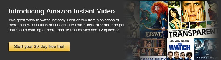 try prime instant video sign up for your 30day free