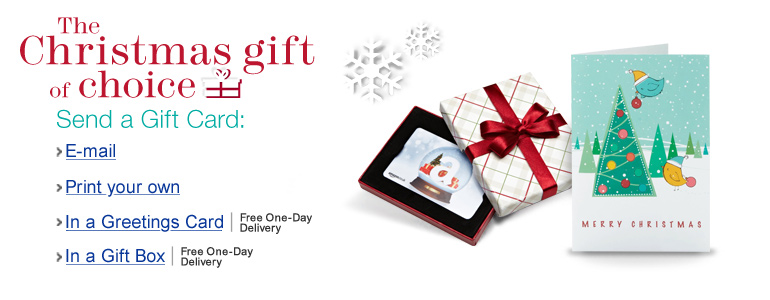 The Christmas gift of choice - Send a Gift Card