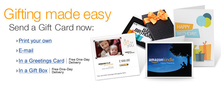 Amazon.co.uk Gift Cards
