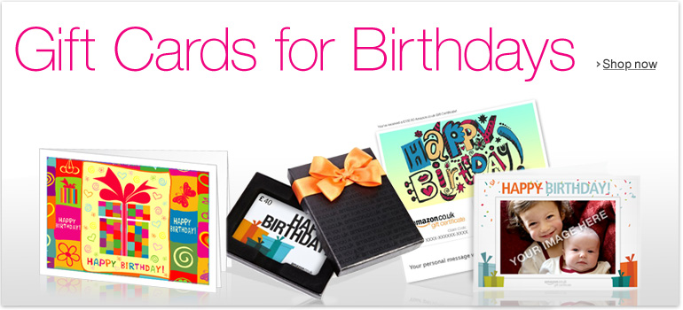 Gift Cards for Birthdays