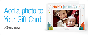 Personalise your Amazon Gift Certificate with your photo