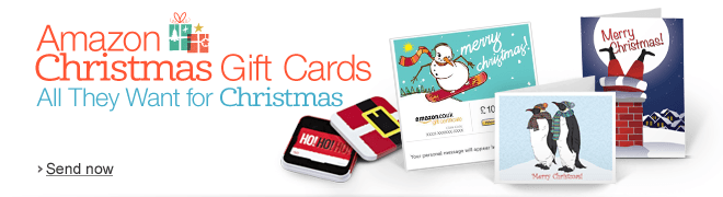 Christmas Gift Cards with Free Delivery