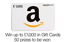 Win up to a £1,000 in Gift Cards, 50 prizes to be won
