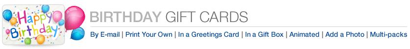 Amazon Gift Cards for Birthdays