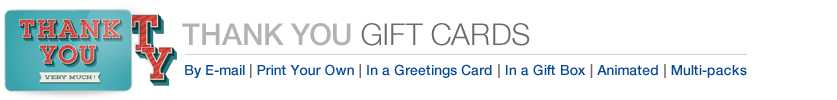 Amazon Gift Cards to Say Thanks