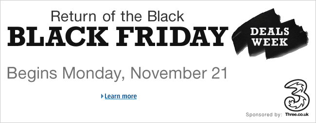 Amazon Black Friday Starts Monday 21 November 2011