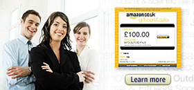 Amazon.co.uk has e-vouchers, paper vouchers and gift cards for your business