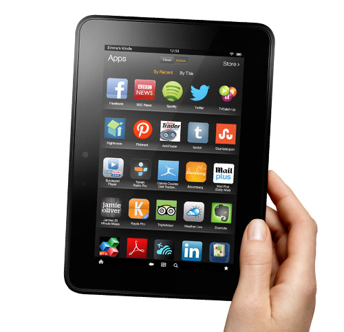 Kindle Fire HD - Angled View