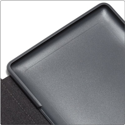 Secures Kindle Touch without hinges or straps