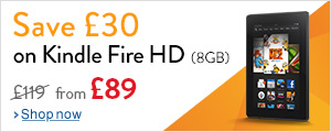 Save �30 on Kindle Fire HD 8GB tablets