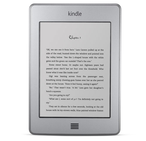 Kindle e-reader: device frontal view