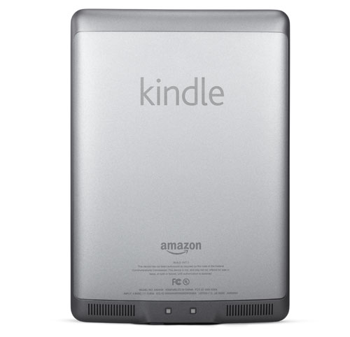 Kindle e-reader: device back view