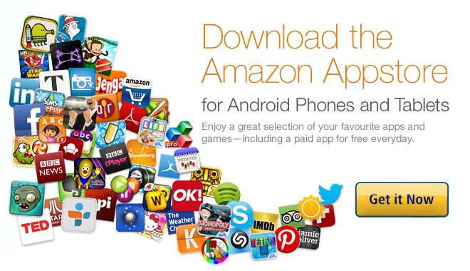 Download the Amazon Appstore for Android phones and tablets. Enjoy a great selection of your favourite apps and games, including a paid app for free every day
