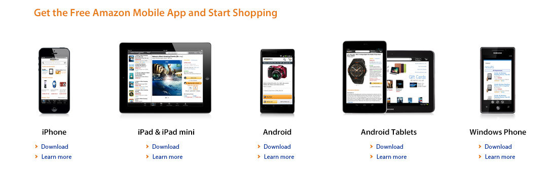 Get the free Amazon Mobile App