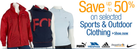 Save 50% on selected Sports & Outdoor Clothing
