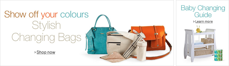 Colourful and Stylish Changing Bags in the Baby Store