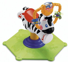 Fisher-Price Bounce & Spin Zebra Black & White