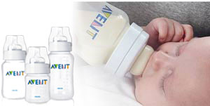 AVENT teats allow air into the bottle, preventing any vacuum build-up