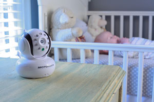 The Motorola Blink1 being used in a baby