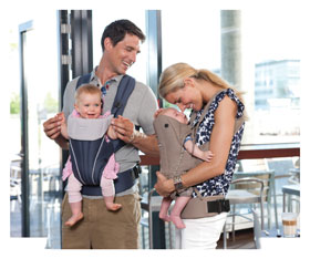 Britax Baby Carrier can be used inward-facing or forward-facing