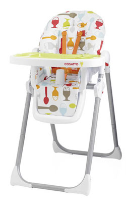 The Cosatto Noodle Highchair shown here in the new Dippi Egg colourway