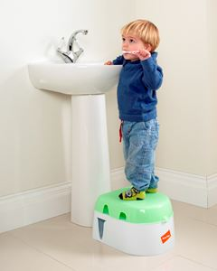 Toddler using as a step up stool
