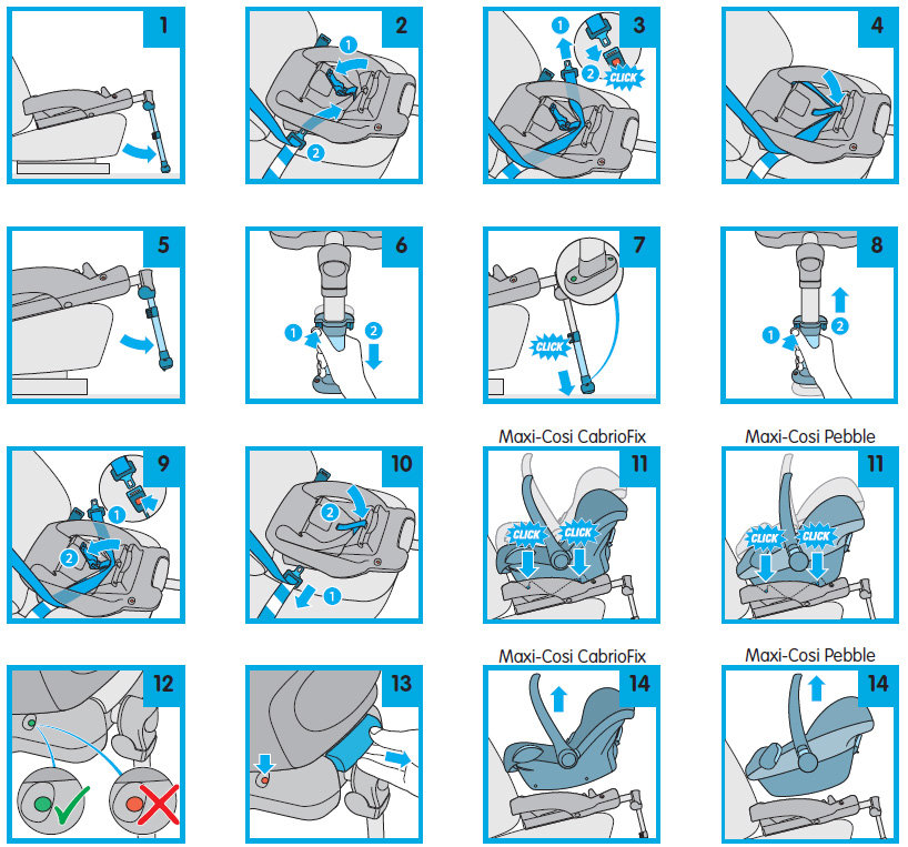 Graco Car Seat Base Fitting Instructions
