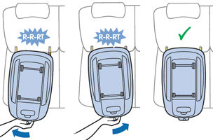 Installing Maxi-Cosi EasyFix correctly into car's IsoFix anchor points