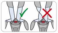 Ensure the shoulder belts are never twisted or damaged