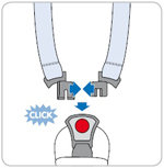 Secure the car seat harness, ensuring you hear an audible click