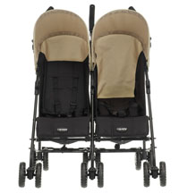 Front view of Apollo Twin stroller