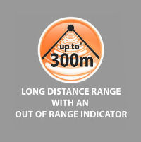 Long distance range of 300 meters
