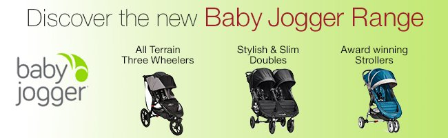 Discover the New Baby Jogger Range