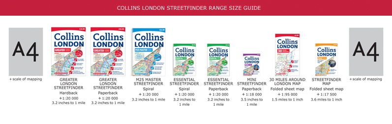 Collins London Streetfinder Range