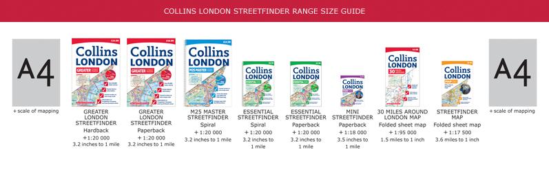 Collins London Streetfinder Range