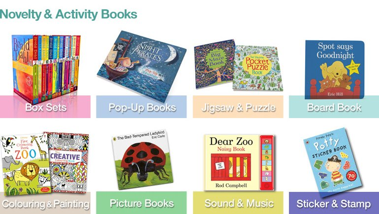 Popular Novelty and Activity Books