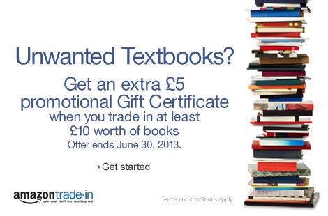 �5 Gift Certificate when you trade in at least �10 worth of books